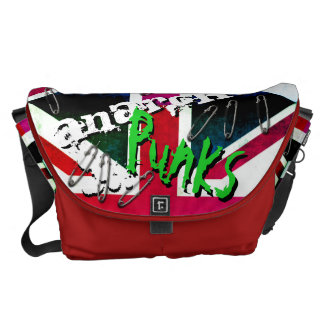 Anarchy Punks Not Dead Grunge Union Jack Messenger Bag