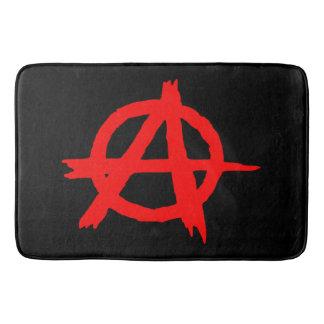Anarchy Red Bathroom Mat