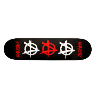 Anarchy Red, Black and White Skateboard