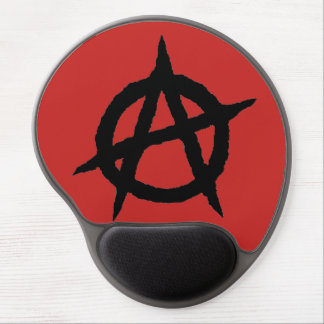 Anarchy symbol black punk music culture sign chaos gel mouse pad