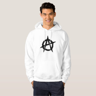 Anarchy symbol black punk music culture sign chaos hoodie