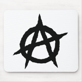 Anarchy symbol black punk music culture sign chaos mouse pad