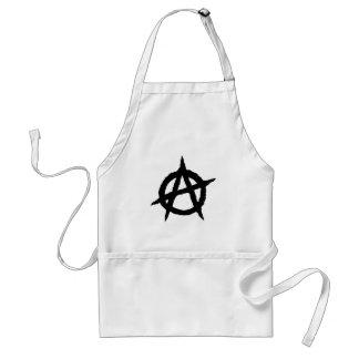 Anarchy symbol black punk music culture sign chaos standard apron