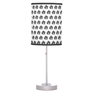 Anarchy symbol black punk music culture sign chaos table lamp