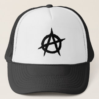 Anarchy symbol black punk music culture sign chaos trucker hat