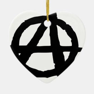 Anarchy Symbol Ceramic Ornament
