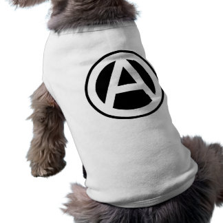 Anarchy symbol classical (black background) doggie tee