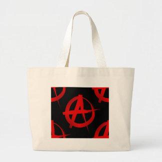 Anarchy symbol large tote bag