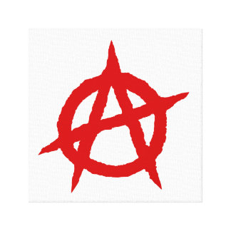 Anarchy symbol red punk music culture sign chaos p