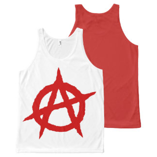 Anarchy symbol red punk music culture sign chaos p All-Over-Print tank top