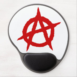 Anarchy symbol red punk music culture sign chaos p gel mouse pad