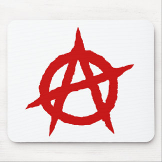 Anarchy symbol red punk music culture sign chaos p mouse pad