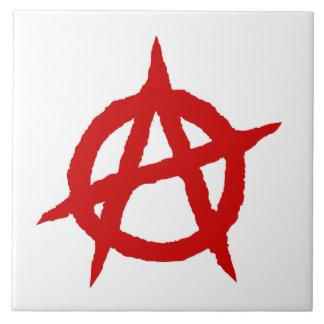 Anarchy symbol red punk music culture sign chaos p tile