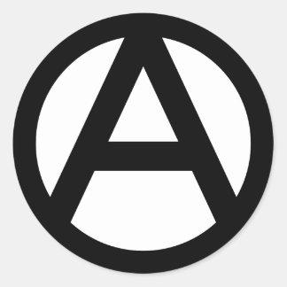 Anarchy Symbol Round Sticker