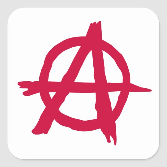 Anarchy SYmbol Square Sticker