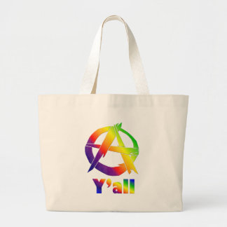 Anarchy, Y'all Large Tote Bag