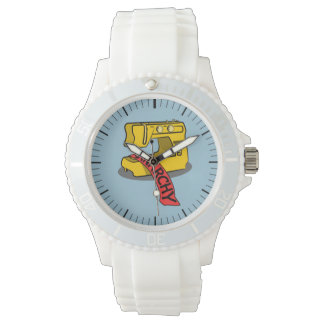 Anarchy Yellow Sewing Machine Watches