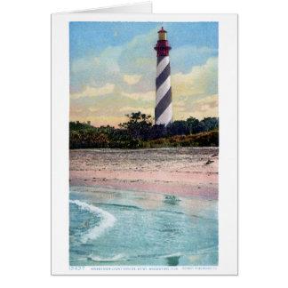 Anastasia Light House Vintage Postcard Restored