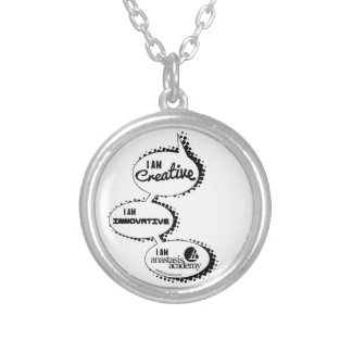 "Anastasis ""Talk"" Design Silver Plated Necklace"