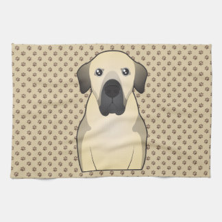 Anatolian Shepherd Cartoon Portrait Kitchen Towel