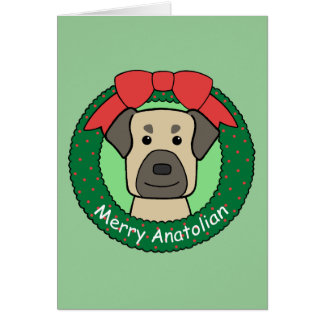 Anatolian Shepherd Christmas Card
