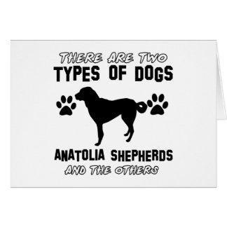 Anatolian Shepherd designs Greeting Card