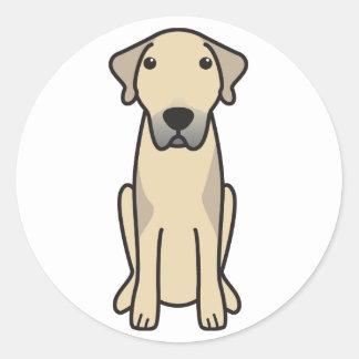 Anatolian Shepherd Dog Cartoon Classic Round Sticker