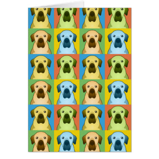 Anatolian Shepherd Dog Cartoon Pop-Art Greeting Card