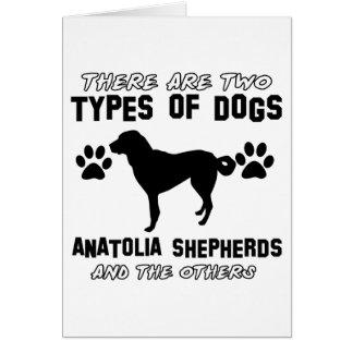 Anatolian Shepherd dog designs Greeting Card