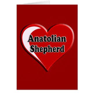 Anatolian Shepherd Dog Heart for Dog Lovers Greeting Card