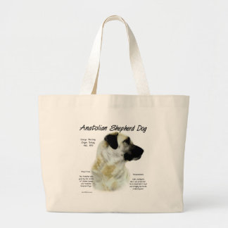 Anatolian Shepherd Dog History Design Large Tote Bag