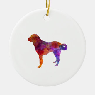Anatolian Shepherd Dog in watercolor Ceramic Ornament