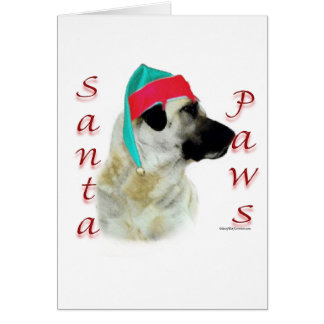 Anatolian Shepherd Dog Santa Paws Greeting Card