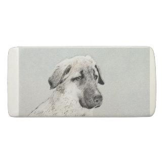 Anatolian Shepherd Painting - Original Dog Art Eraser