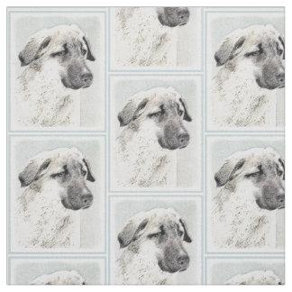 Anatolian Shepherd Painting - Original Dog Art Fabric