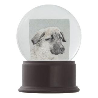 Anatolian Shepherd Painting - Original Dog Art Snow Globe