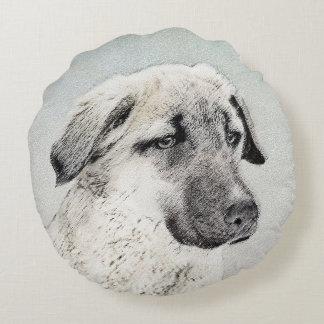 Anatolian Shepherd Round Pillow