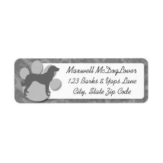 Anatolian Shepherd Silhouette Return Address Label