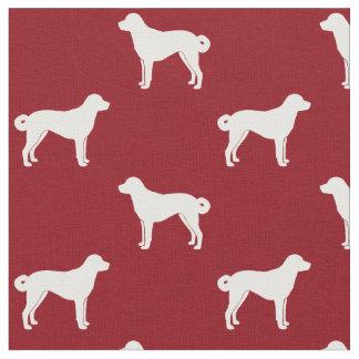 Anatolian Shepherd Silhouettes Pattern Fabric
