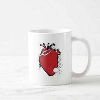 anatomical heart stethoscope coffee mug