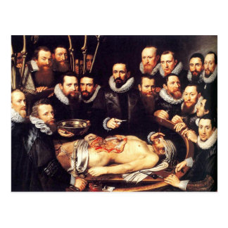 Anatomy Lesson of Dr. Willem van der Meer Postcard