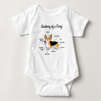 Anatomy Of A Corgi Baby Bodysuit