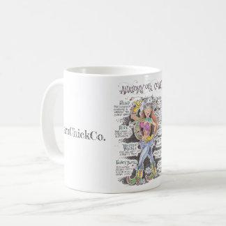 Anatomy of a Cowgirl coffee mug