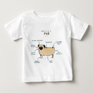 Anatomy of a Pug Baby T-Shirt