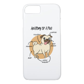 Anatomy Of A Pug Case-Mate iPhone Case