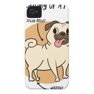 ANATOMY OF A PUG iPhone 4 Case-Mate CASE
