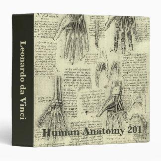 Anatomy of the Human Hand by Leonardo da Vinci Vinyl Binders