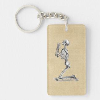 Anatomy Skeleton Illustration Double-Sided Rectangular Acrylic Keychain