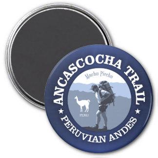 Ancascocha Trail 3 Inch Round Magnet