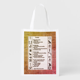 Ancestry Reusable Grocery Bag